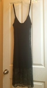 EUC, GUESS BLACK DRESS WITH CROCHETED OVERLAY